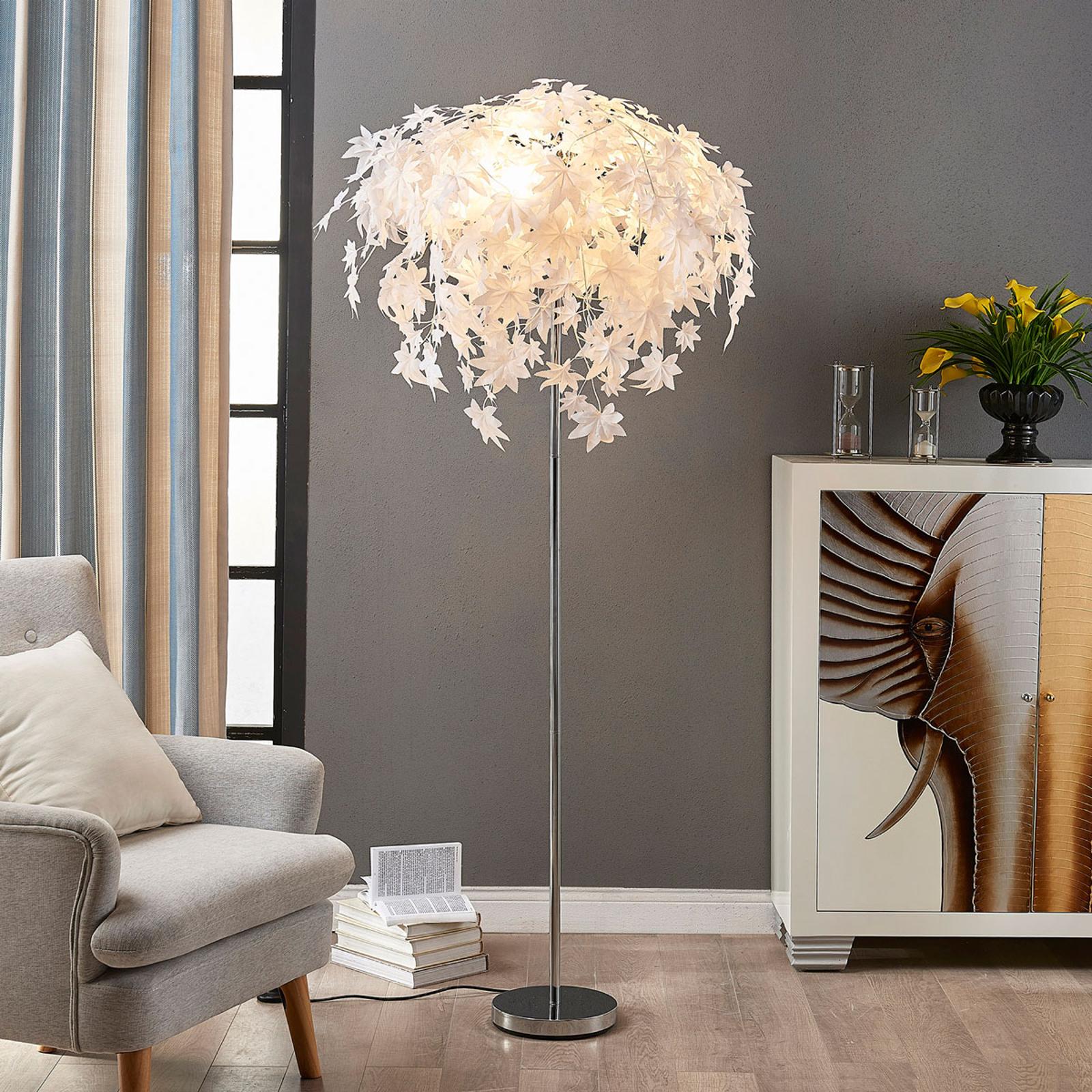 Stehlampe Maple mit Blattdekor