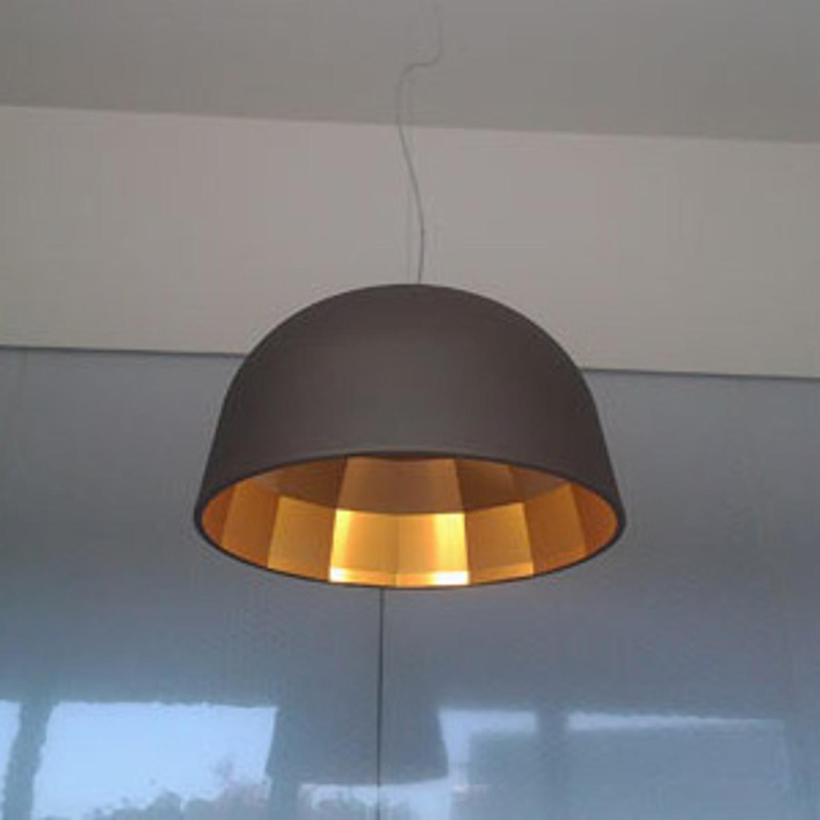 Oluce Empty - suspension LED brune, 59cm