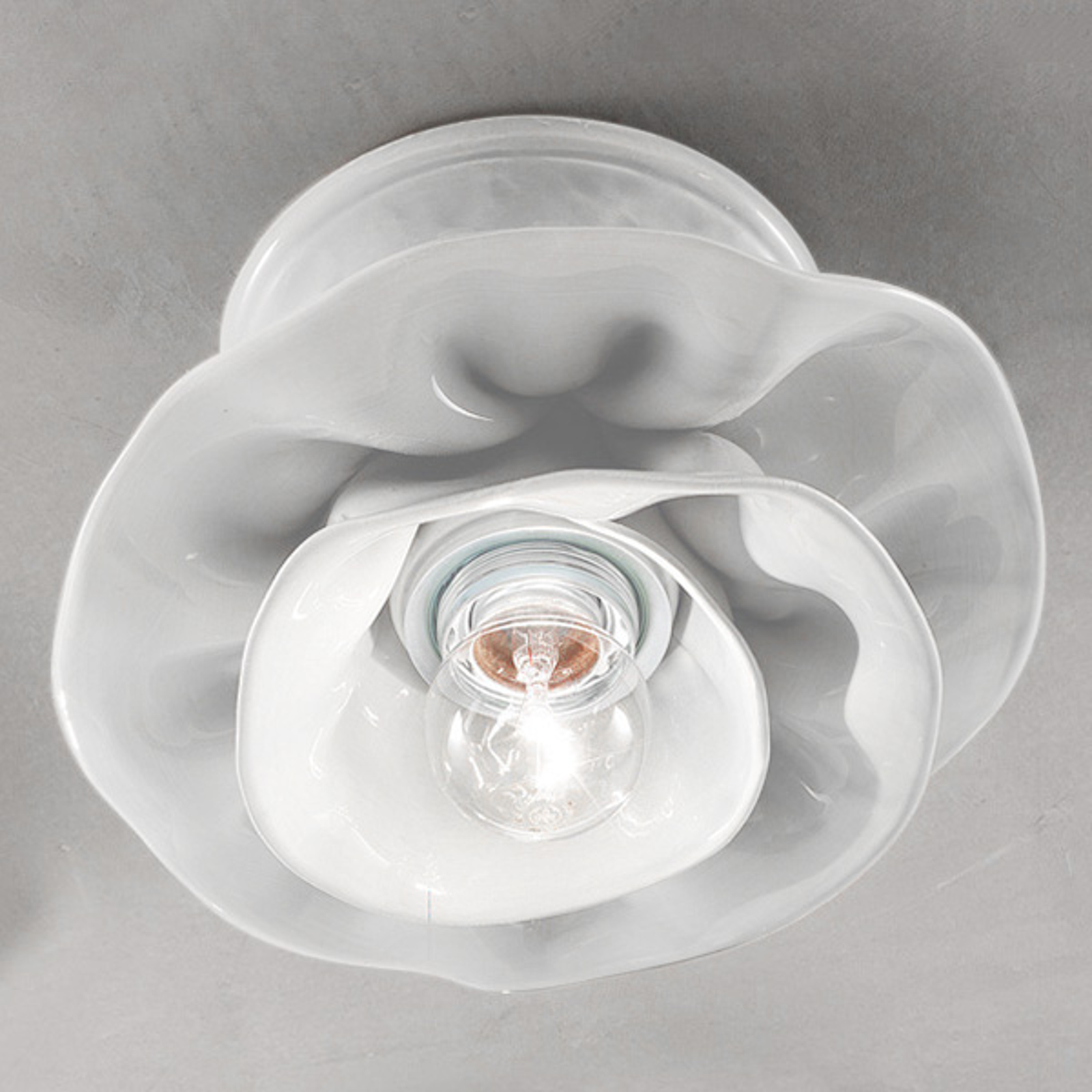 Lampa sufitowa Marco z ceramiki biały
