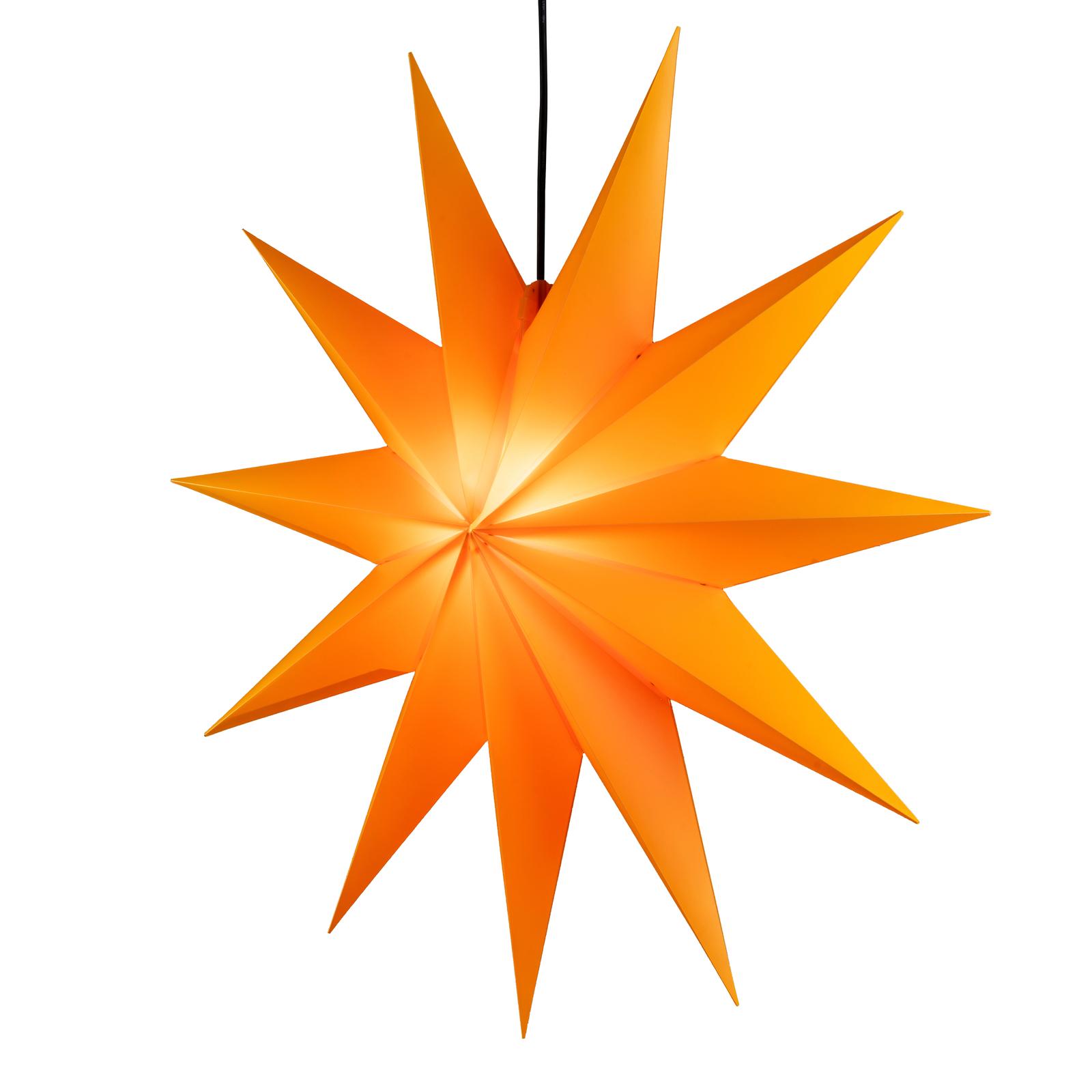 Estrella LED Jumbo, 11 puntas, Ø 100 cm, amarillo