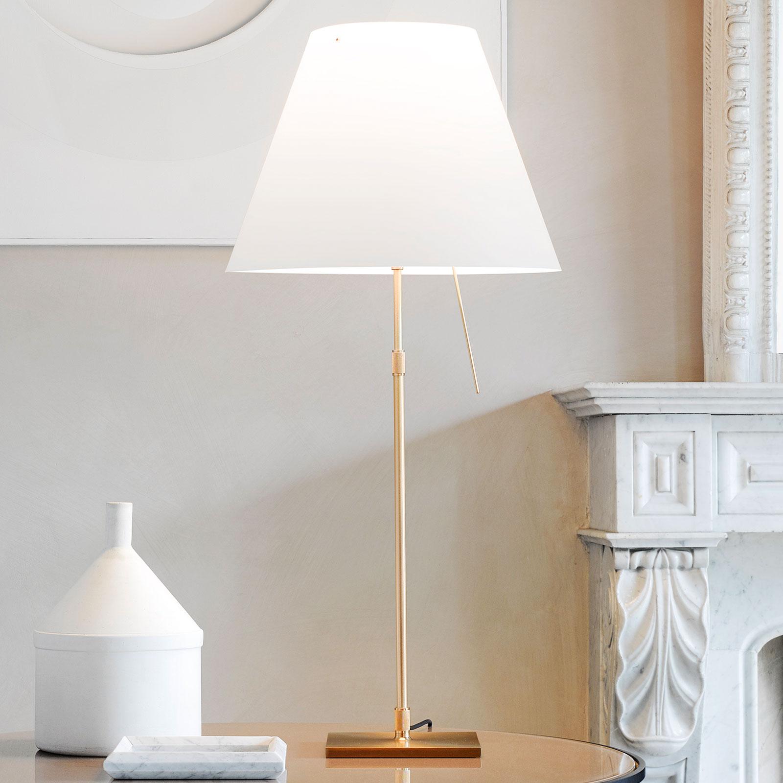 Luceplan Costanza bordslampa D13 mässing/vit