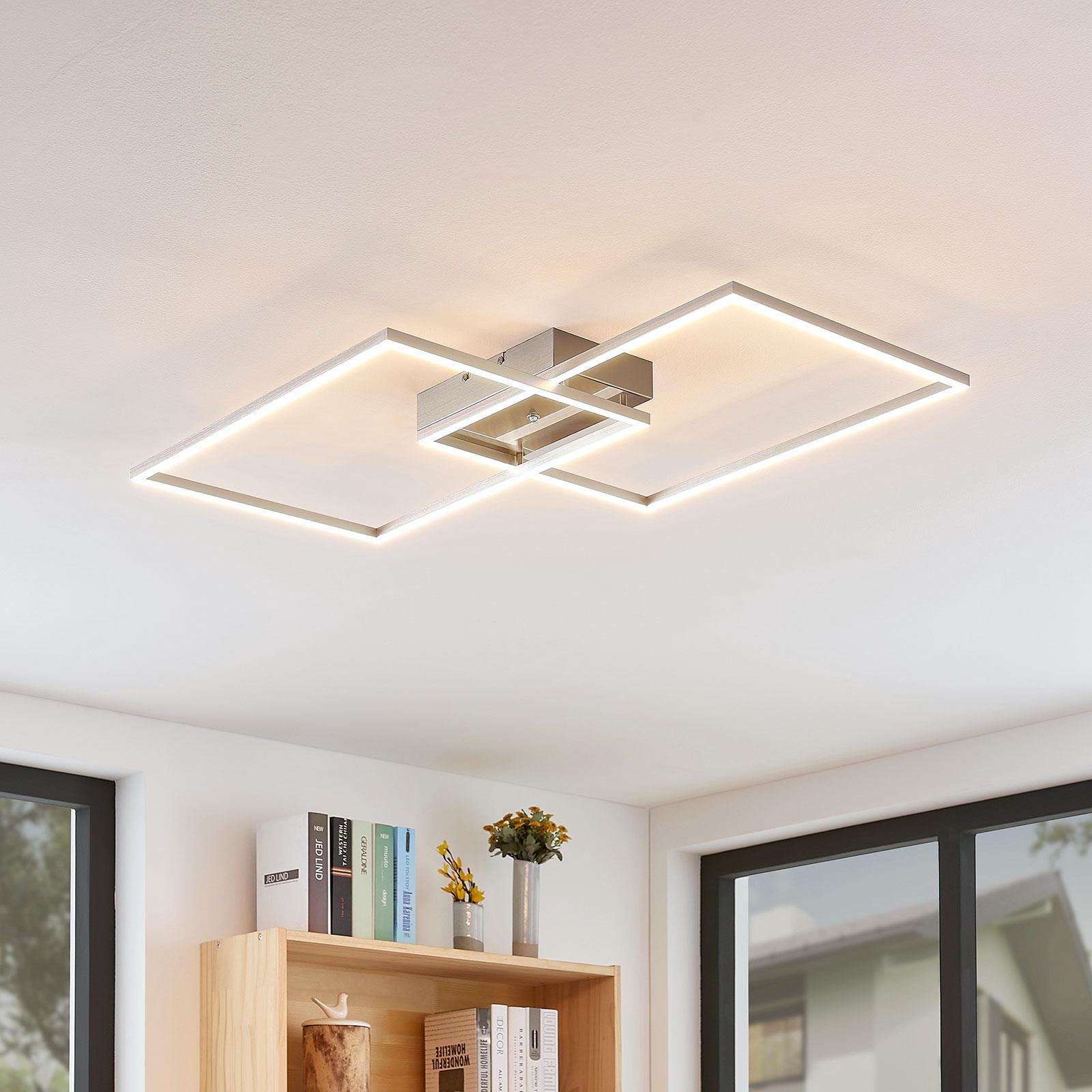 LED-Deckenleuchte Quadra, dimmbar, 2-flg., 75 cm