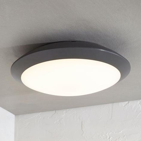 LED-Außendeckenlampe Naira m. Sensor, grau