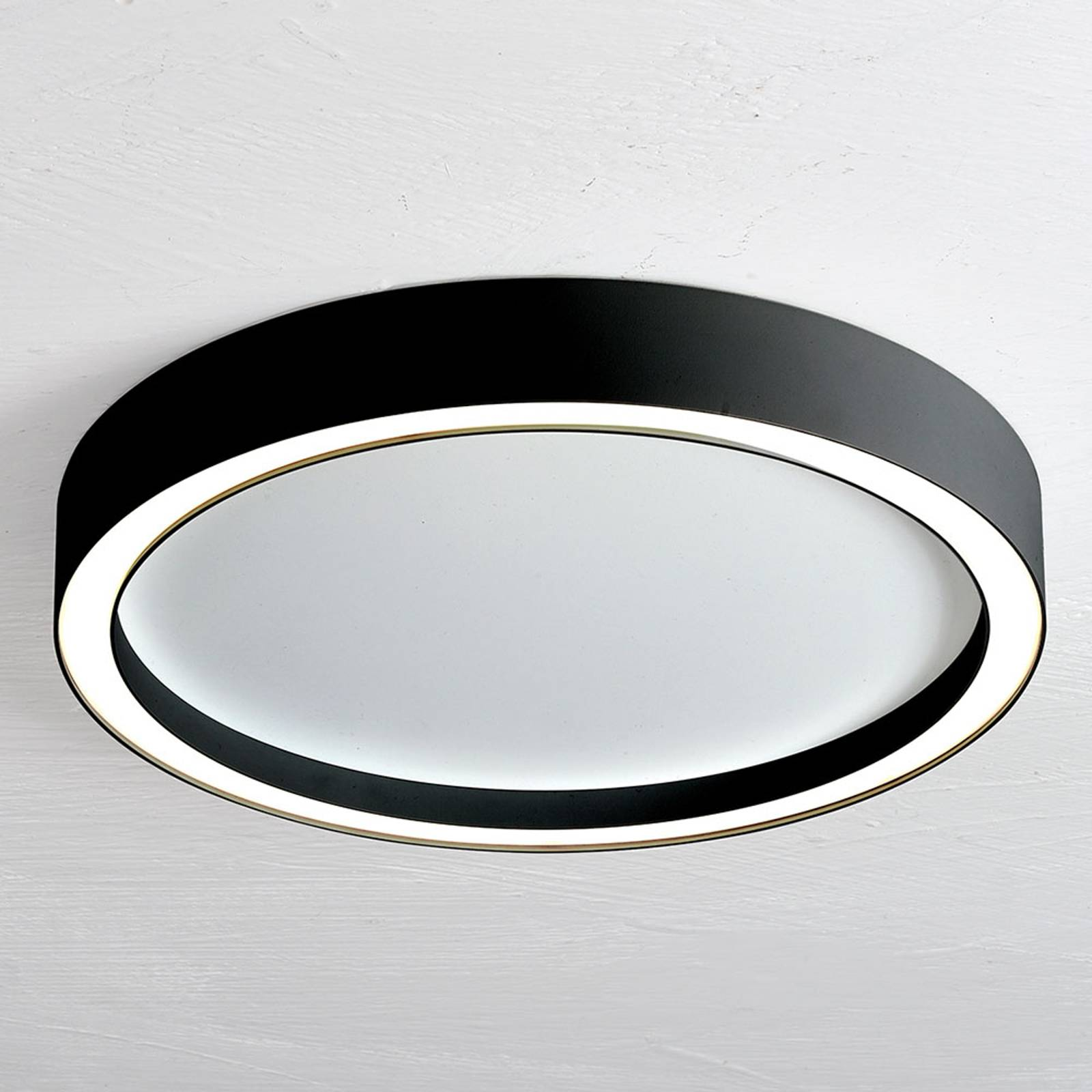Bopp Aura LED plafondlamp Ø 55cm wit/zwart