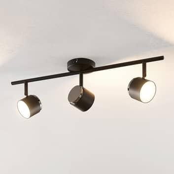Lindby Marrie LED-lyskaster, svart, 3 lysk., stang