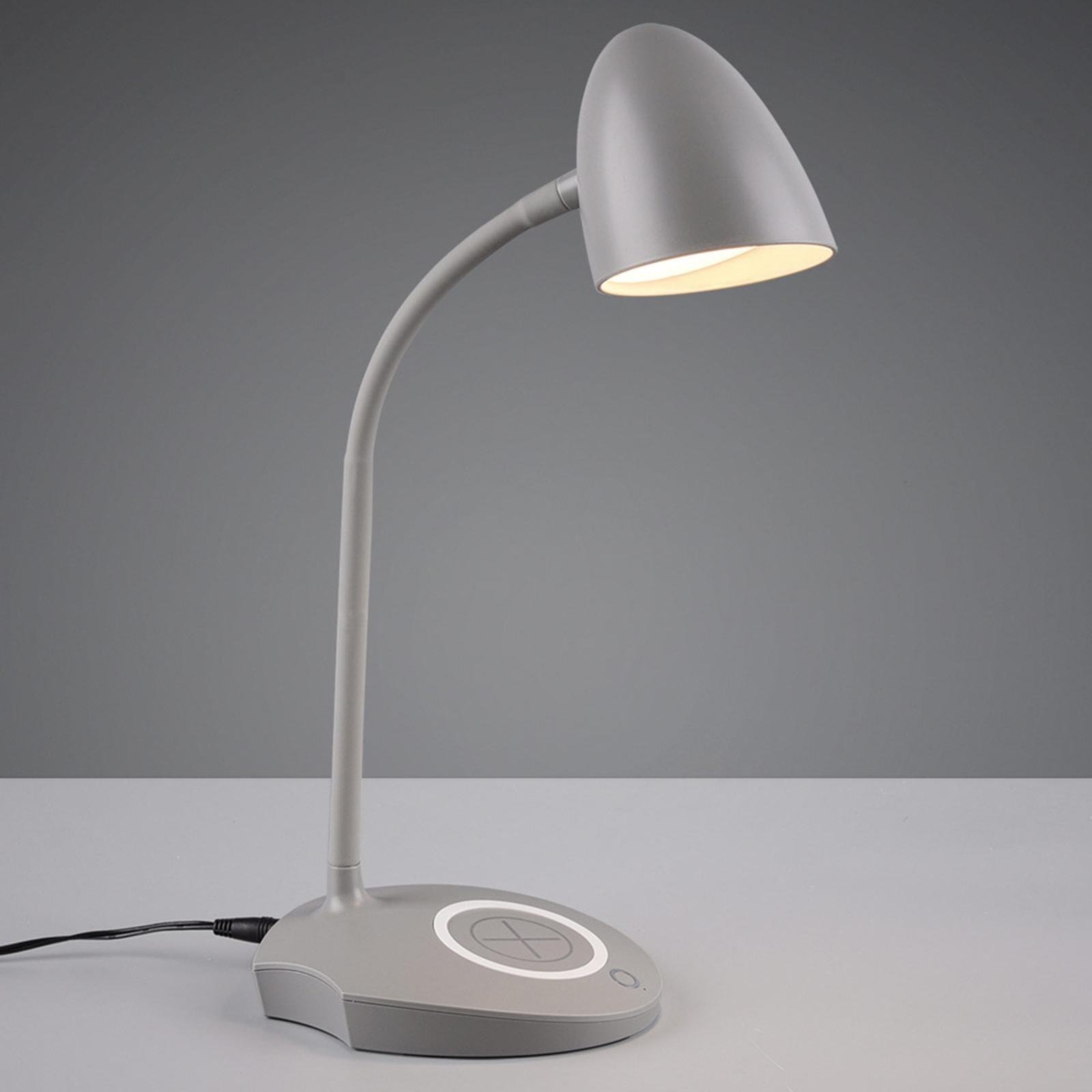 LED-Tischleuchte Load, induktive Ladestation, grau