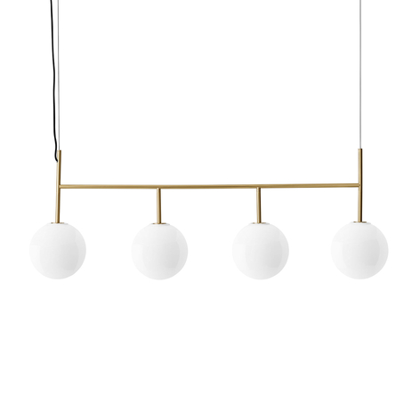Menu TR Bulb DTW LED-slinger 4-lamps messing/opaal