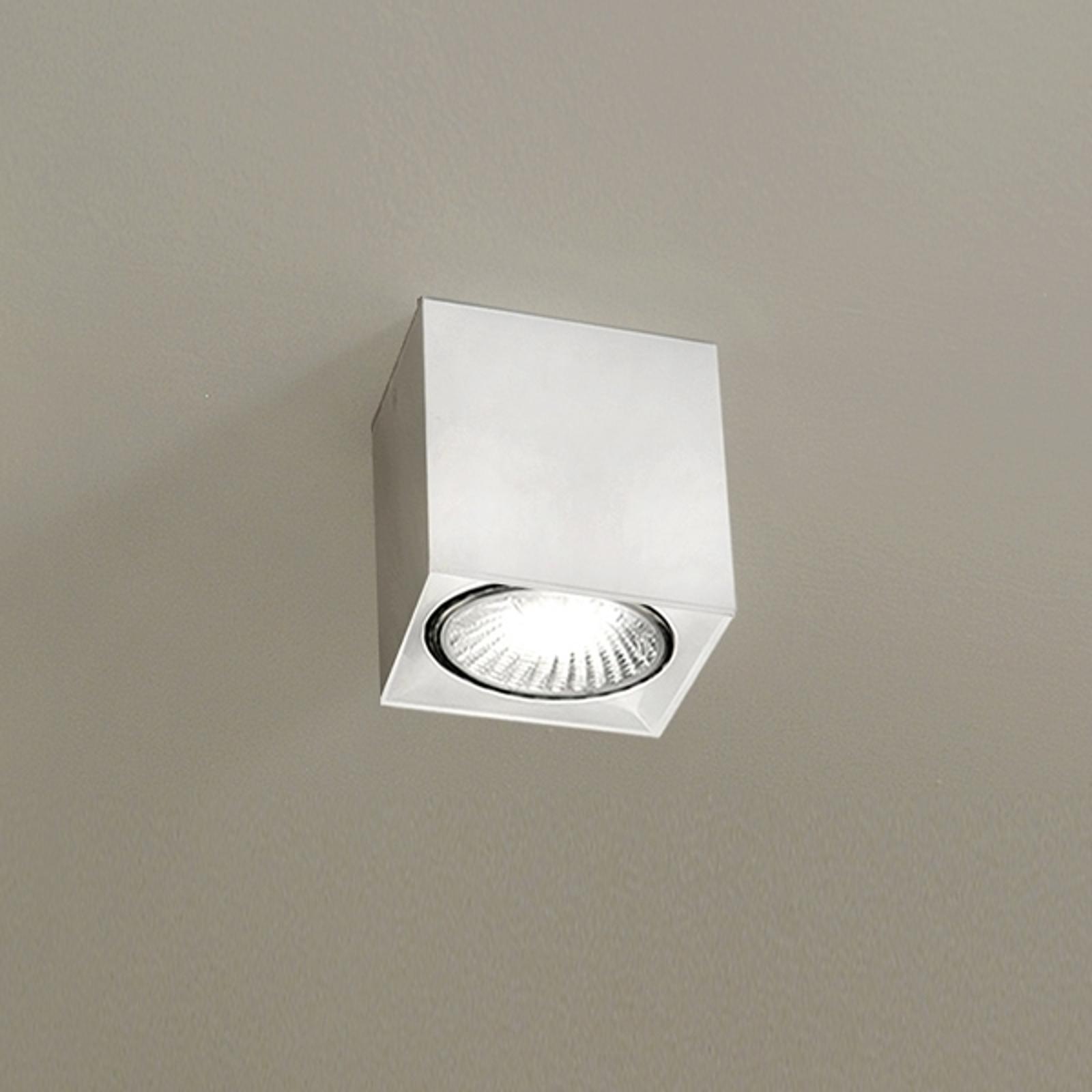Biała lampa sufitowa DAU SPOT z kształcie kostki