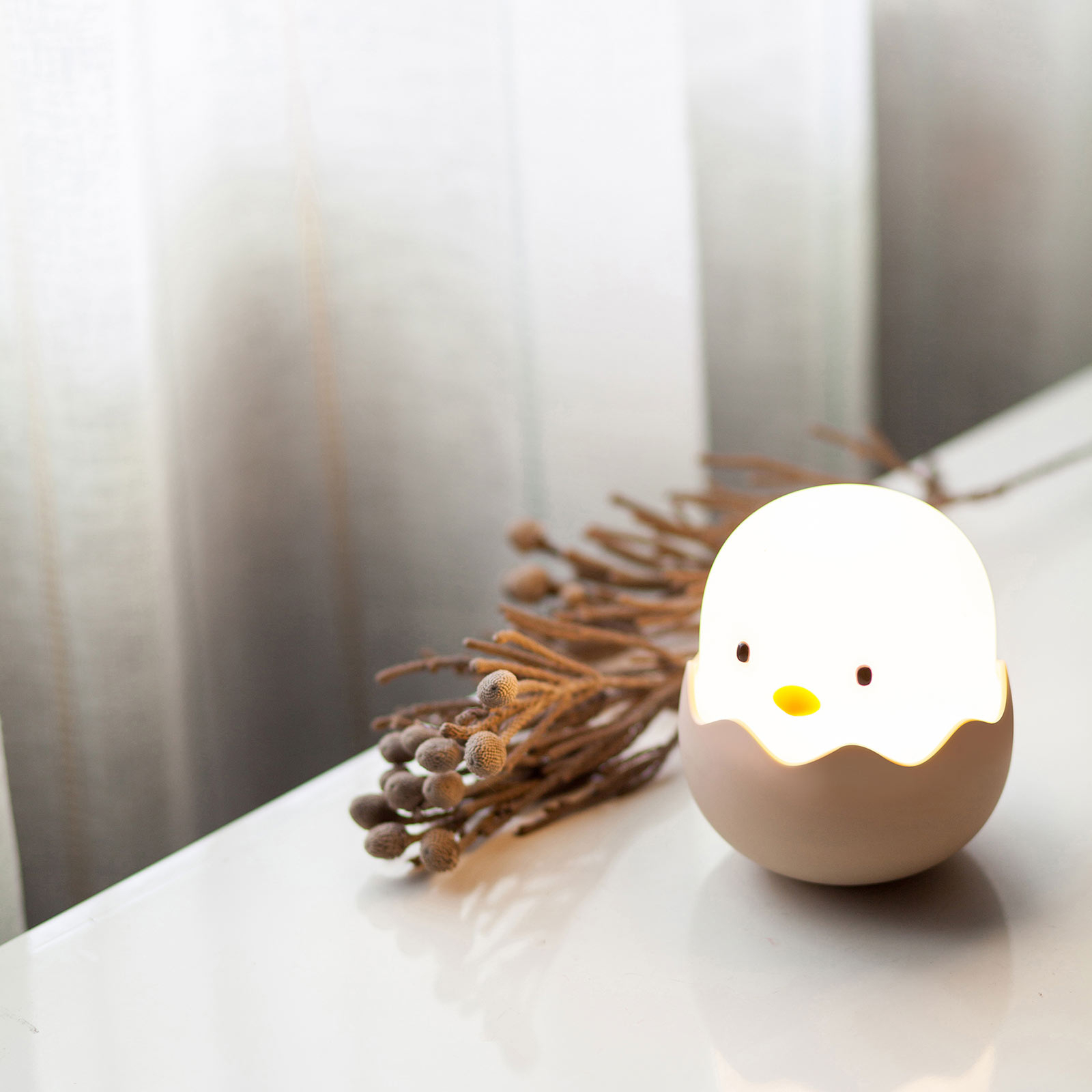 LED-nachtlamp Eggy EGG met accu