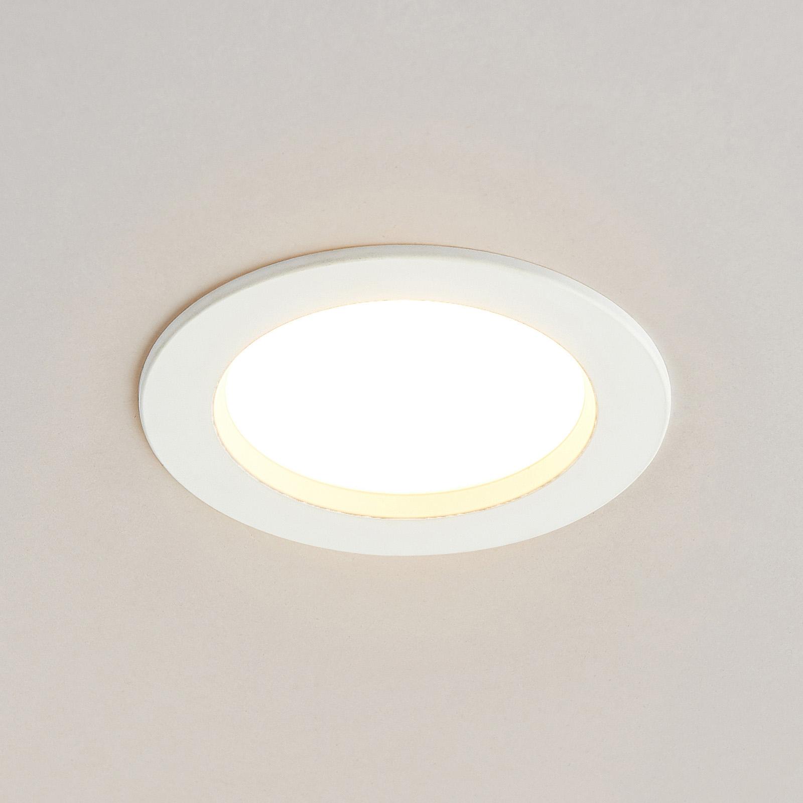 Arcchio Milaine, LED-downlight, hvit, dimbar