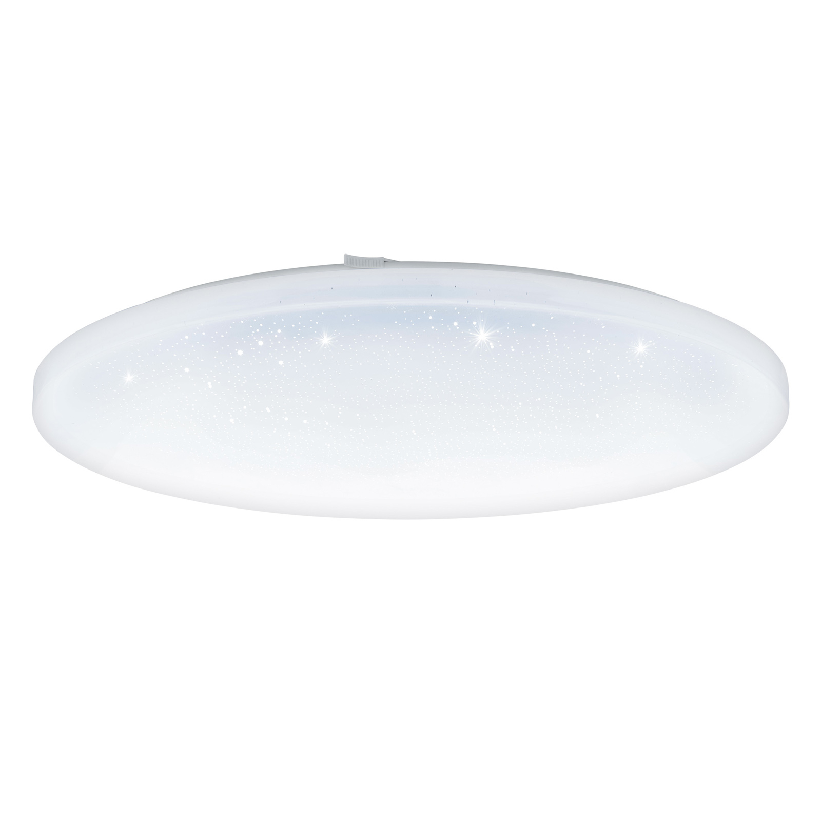 LED-taklampe Frania med krystalleffekt, rund