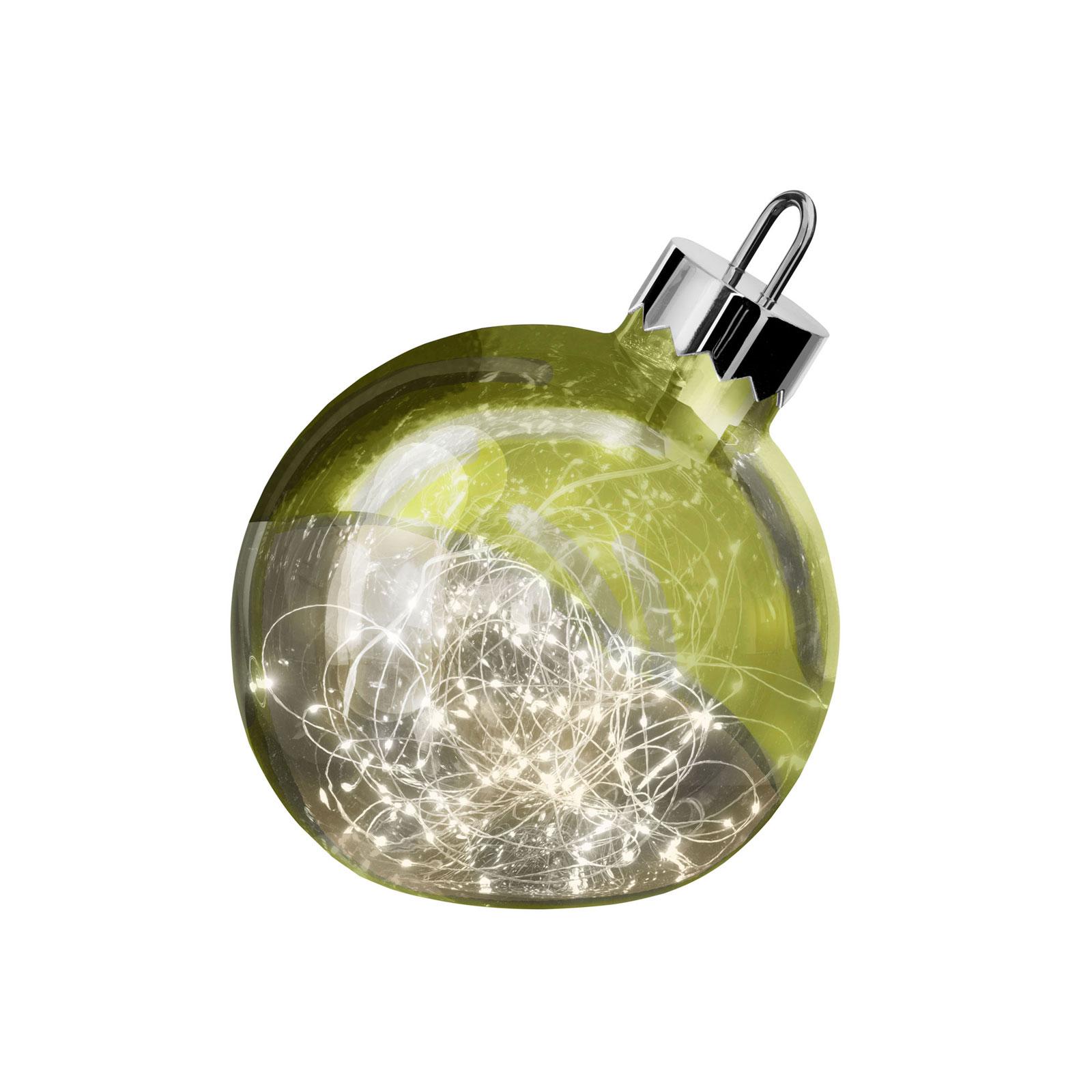 Dekoleuchte Ornament, grün, Ø 20 cm