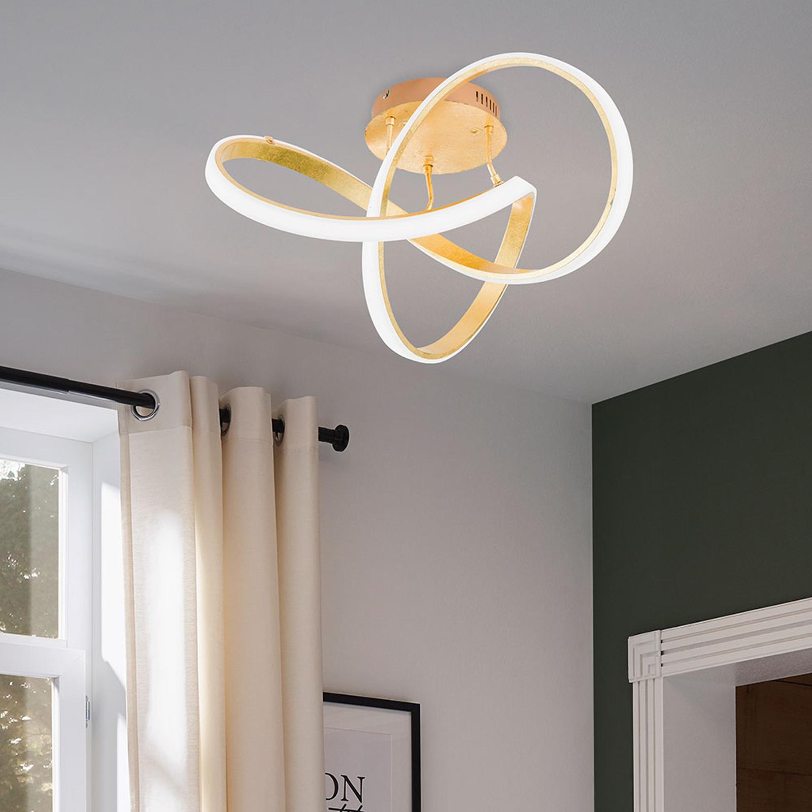 LED-taklampa Indigo, guld