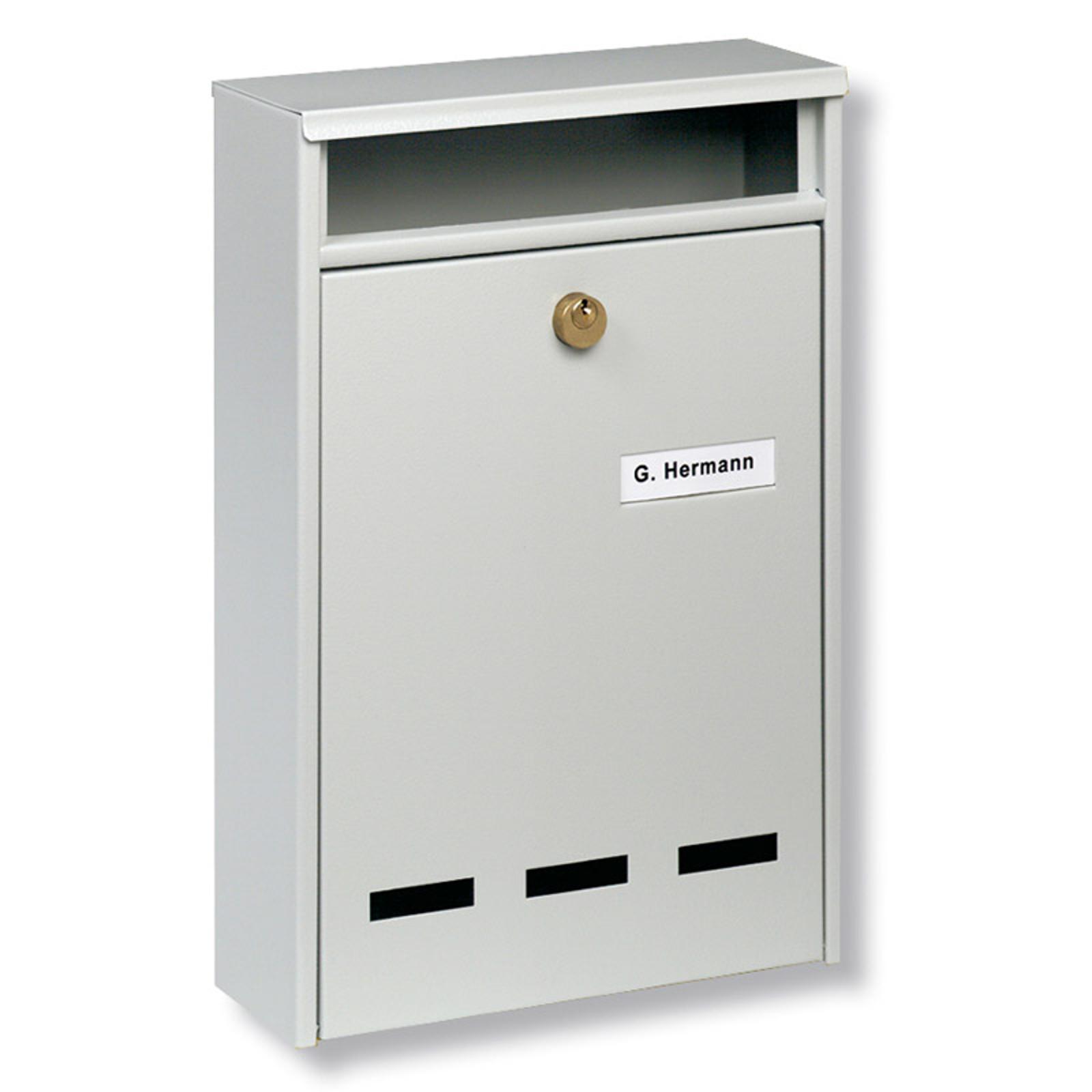 Standard anläggnings-brevlåda Wismar B5, vit
