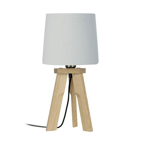 HerzBlut Tre lampada da tavolo, rovere naturale