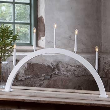 LED-fönsterljusstake Storm 5 lampor höjd 59 cm