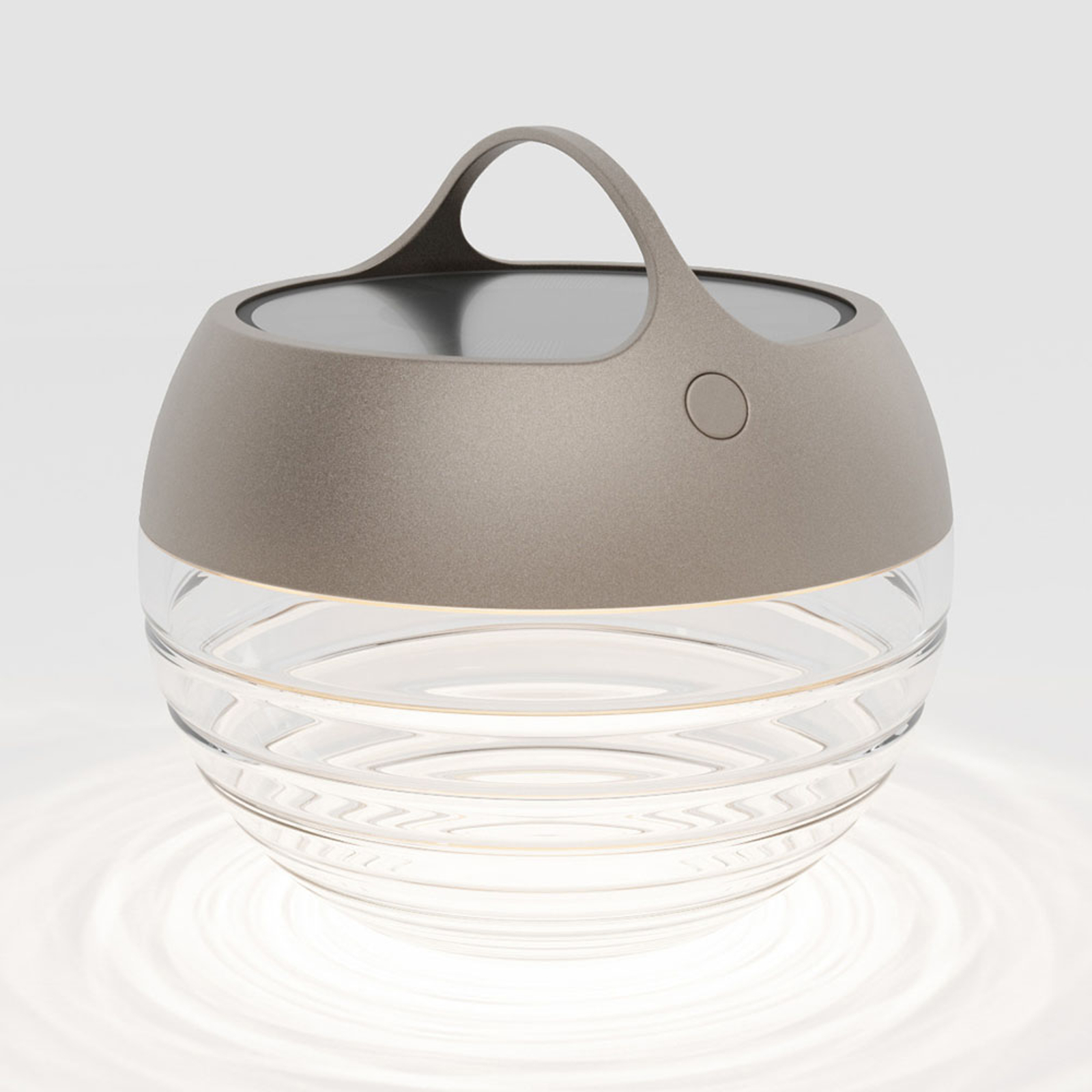 IP44.de aqu S lampa solarna LED, 23 cm brązowa