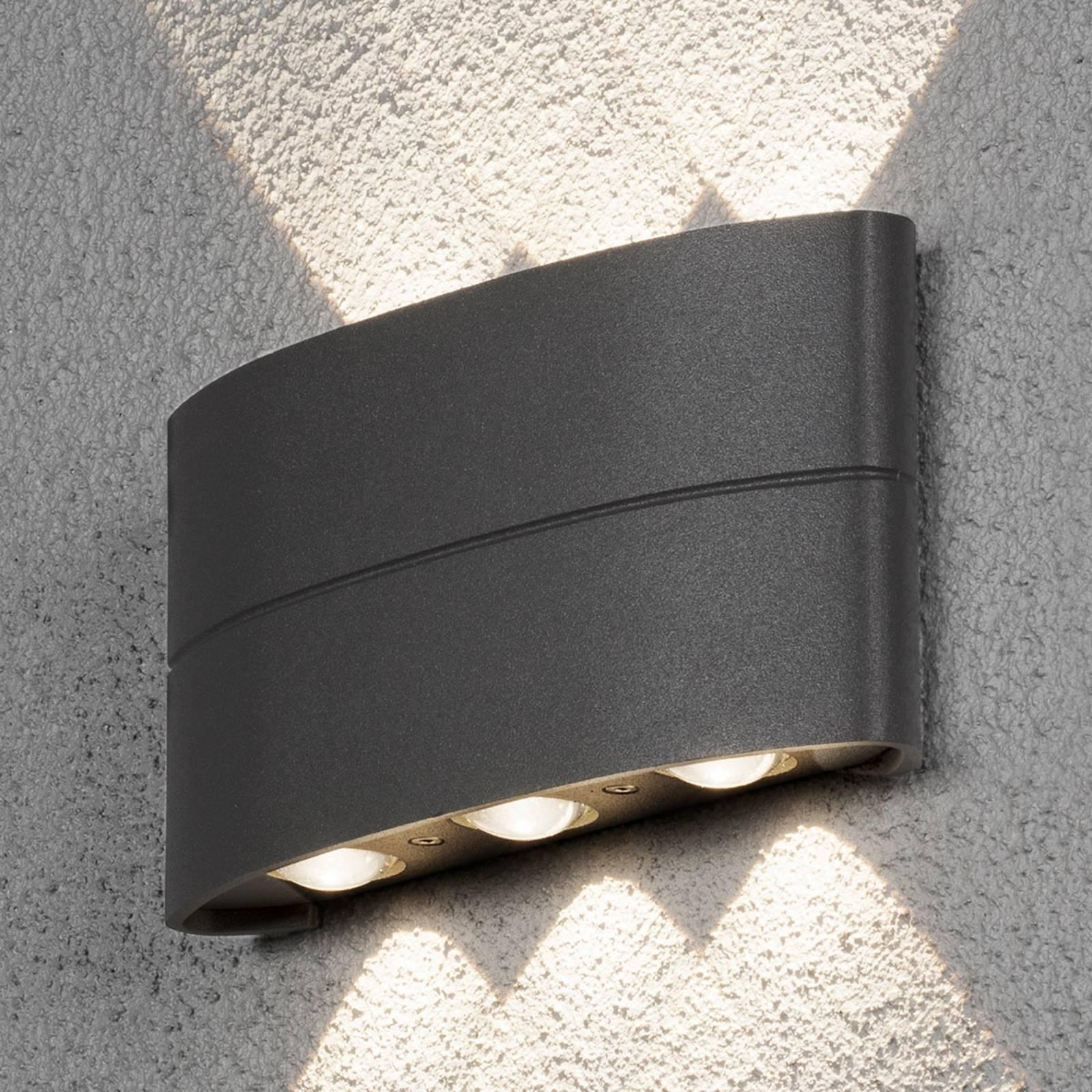 LED buitenwandlamp Chieri met effectief licht