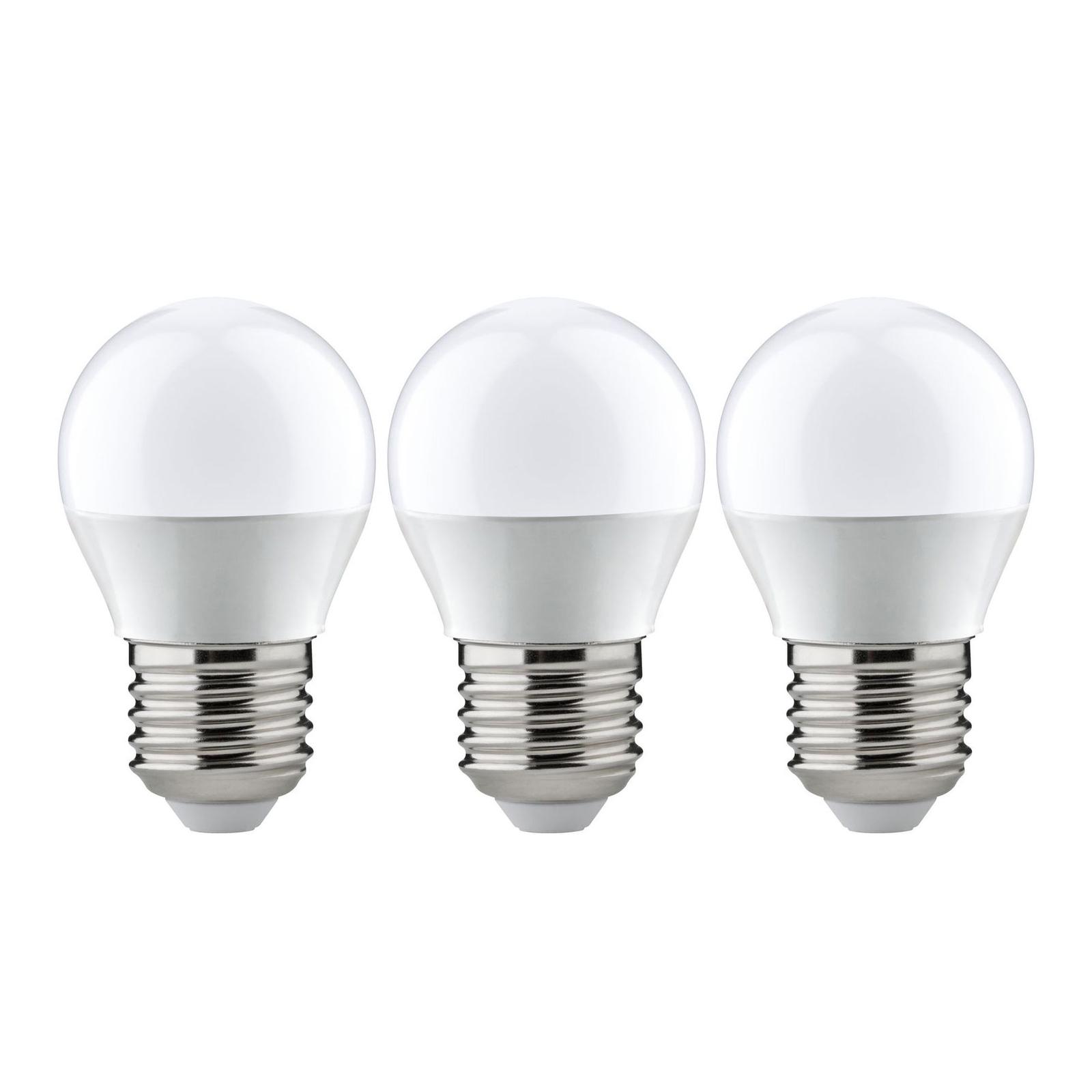 Paulmann LED-Tropfen E27 3,5W 2.700K opal 3er-Pack