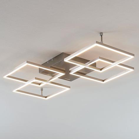 Plafoniera LED dimmerabile Quadra a 4 luci