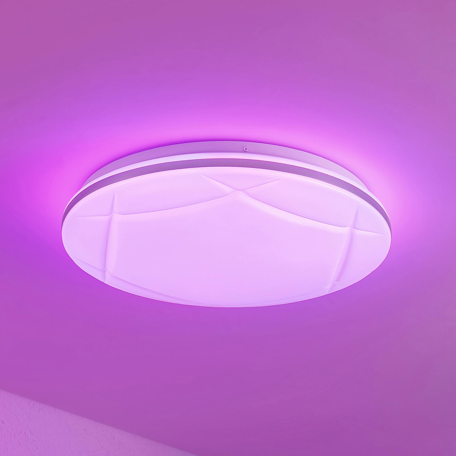 Lindby Favoria -LED-kattovalaisin RGBW, CCT, 39 cm