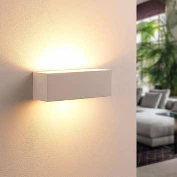 Firkantet LED-vegglampe Tjada i gips