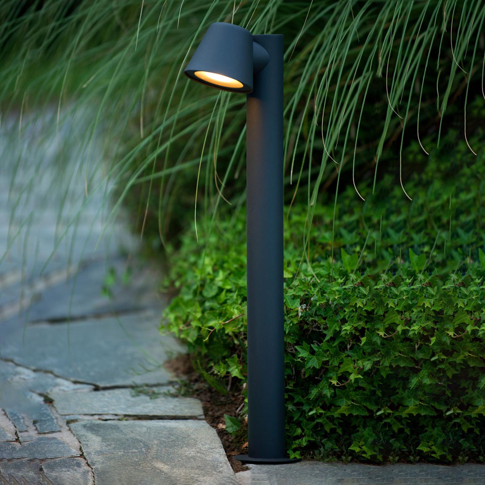 Dingo – czarny słupek oświetleniowy LED GU10