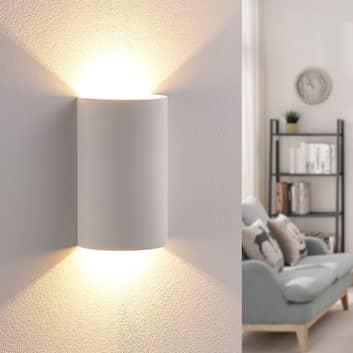 Effektfullt lysande LED-gipsvägglampa Jenke