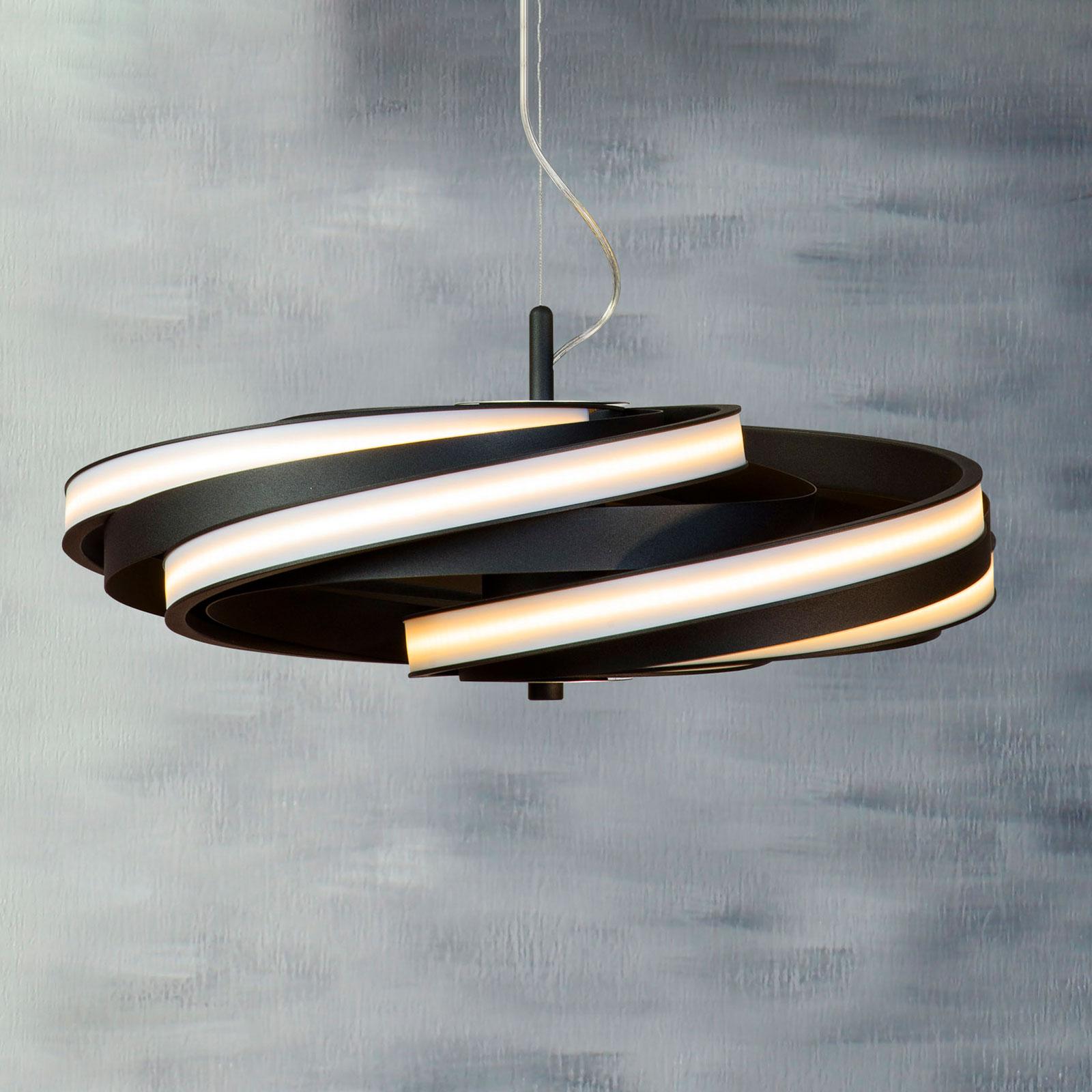 Zoya LED-hengelampe i matt svart