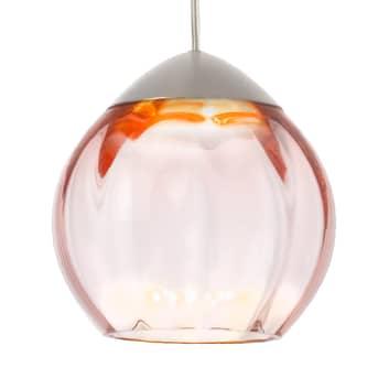Lámpara colgante Soft con pantalla rosa 15cm