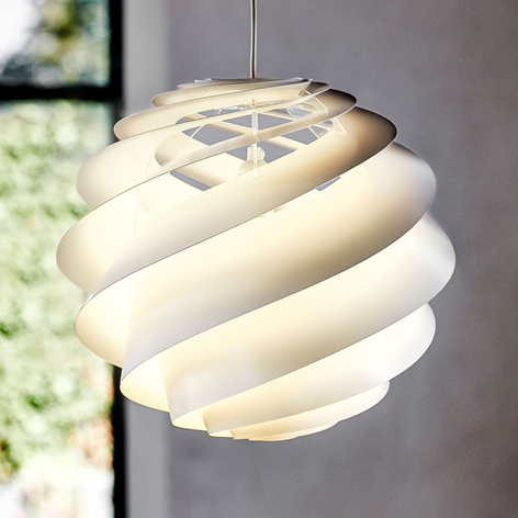 LE KLINT Swirl 3 lámpara colgante, diseño, blanco