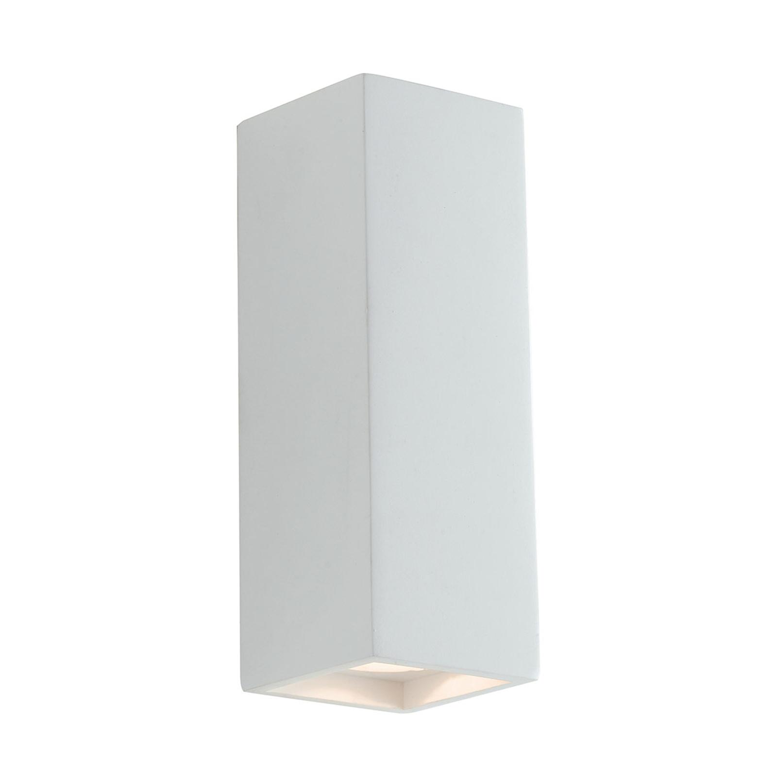 Wandlamp Foster van gips, twee lichtemissies
