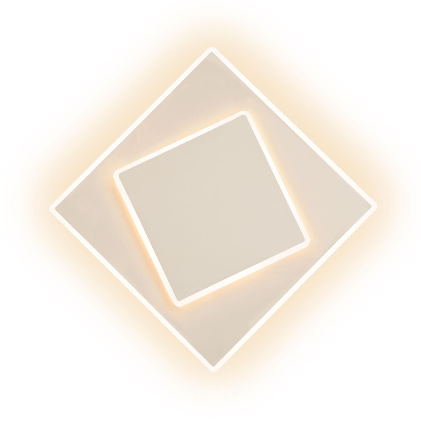 Applique LED Dakla, blanche, 18x18cm
