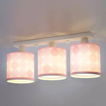 Prikket loftslampe Colors, rosa