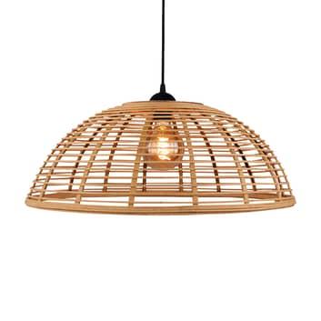 Lámpara colgante Crosstown, pantalla bambú clara
