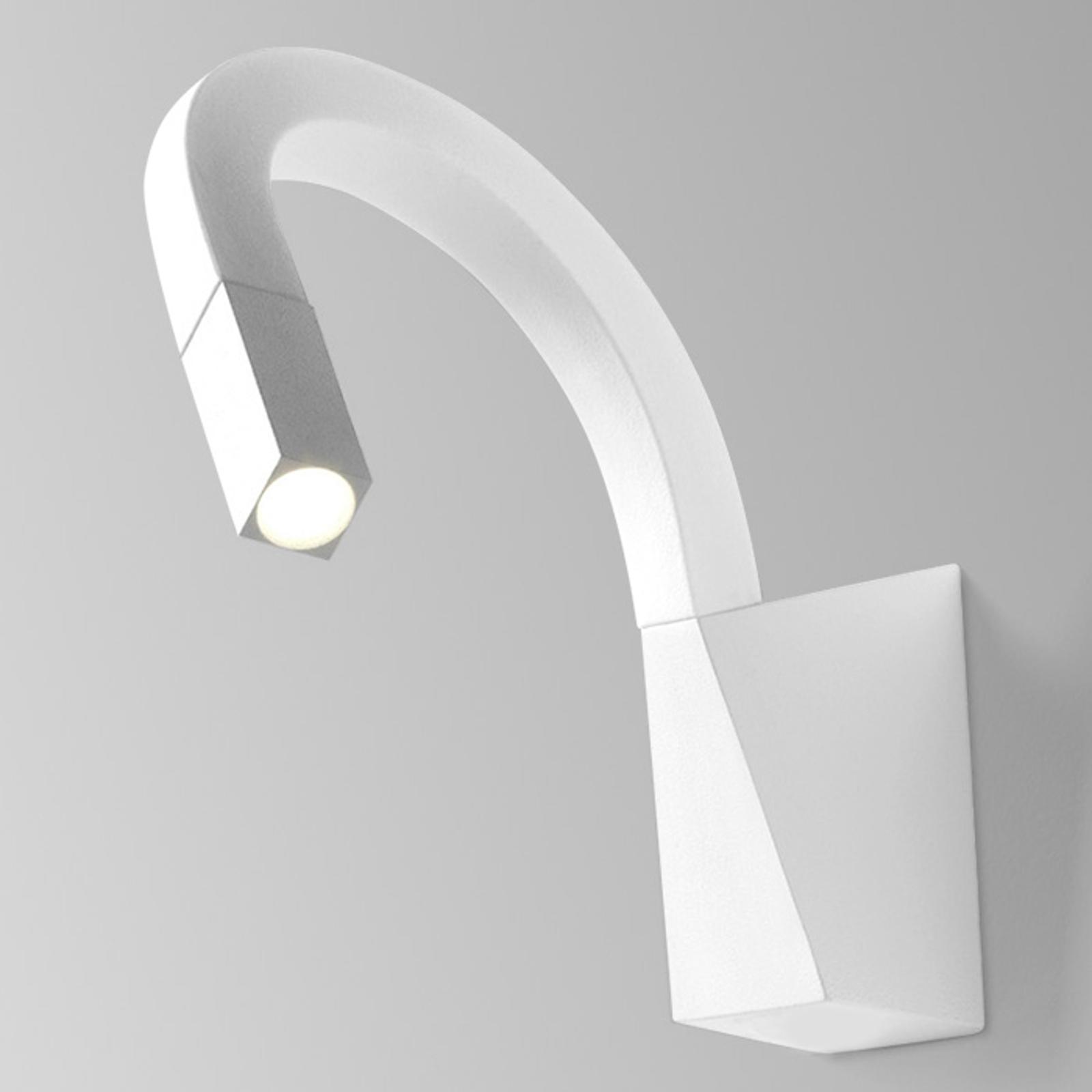Flexibele LED wandlamp Snake in wit