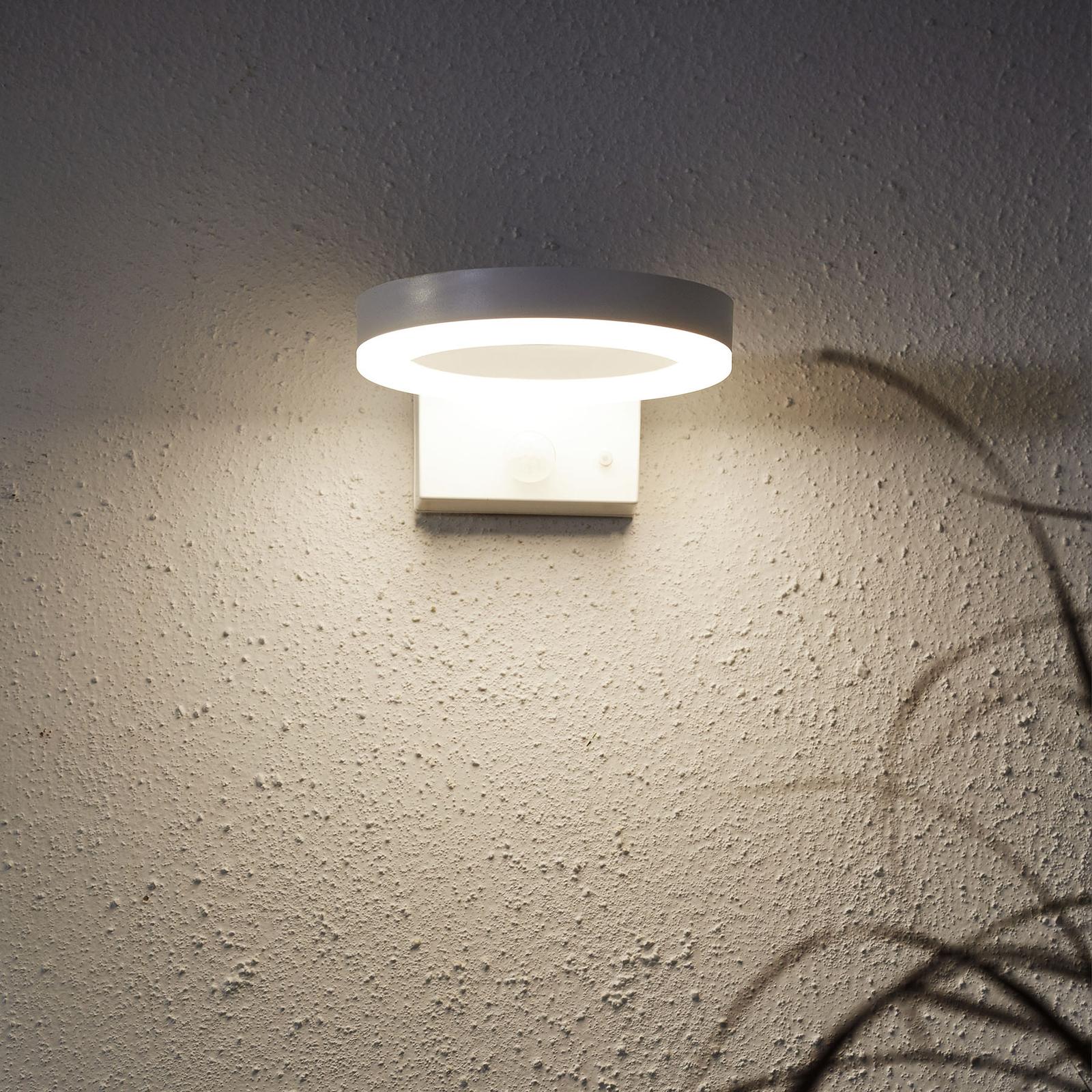 Solarna lampa ścienna LED Vidi z czujnikiem ruchu