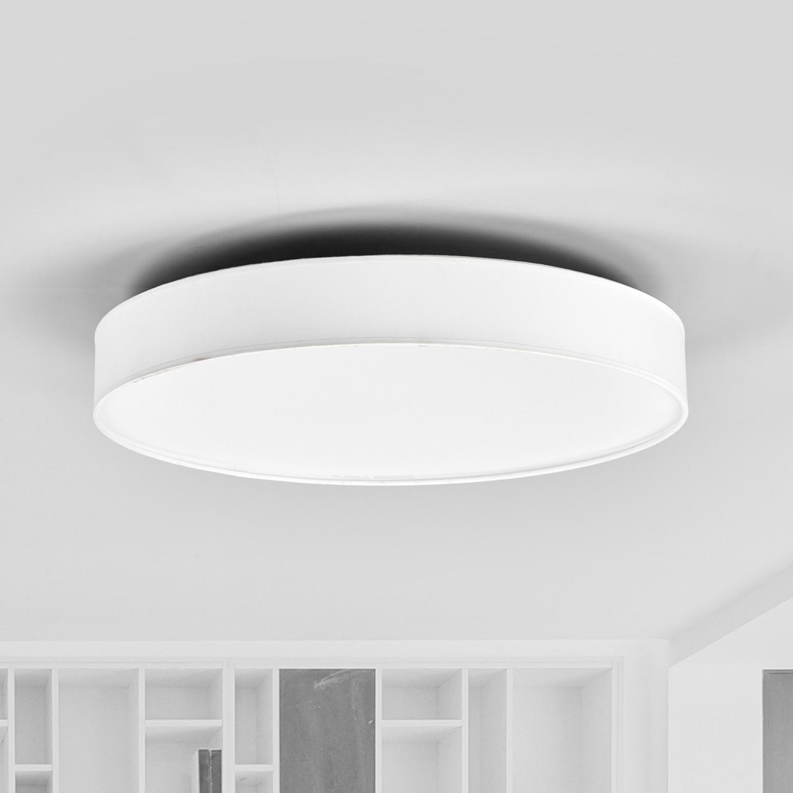 LED-Stoffdeckenlampe Saira, 50 cm, weiß