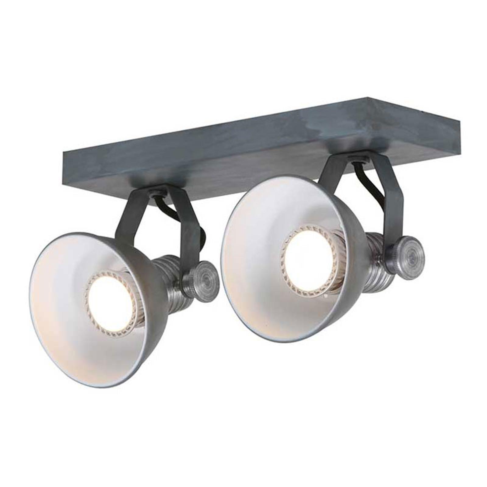 Spot LED soffitto Brooklyn 2 luci, grigio