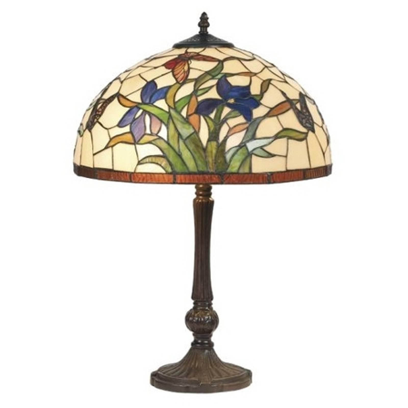 Tafellamp Elanda in Tiffany-stijl, 62 cm
