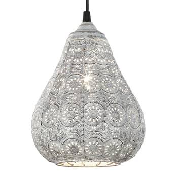 Antyczna szara lampa wisząca Jasmin