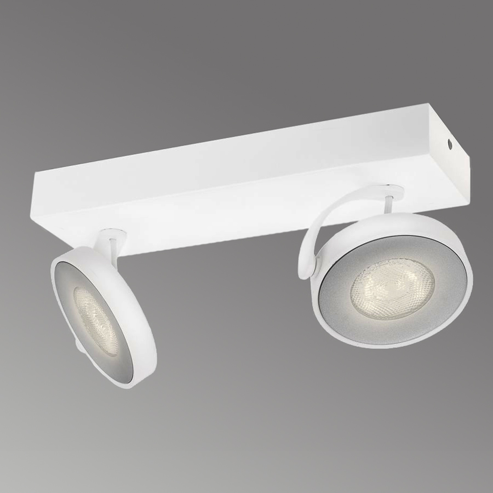 Spot a LED Clockwork due lampadine bianco