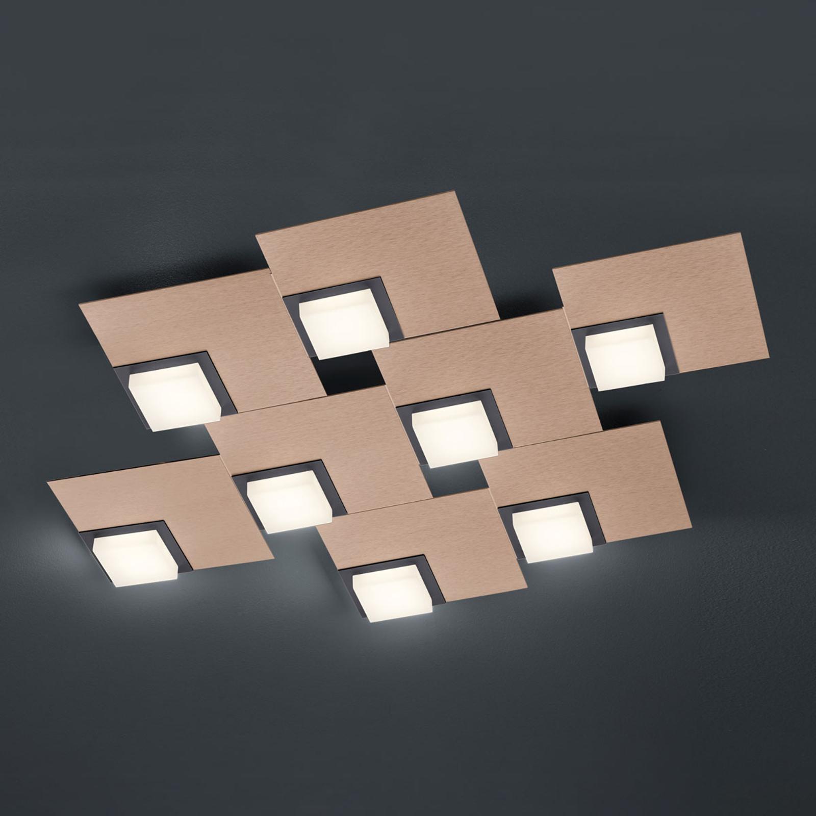 BANKAMP Quadro lampa sufitowa LED 64W różowe złoto