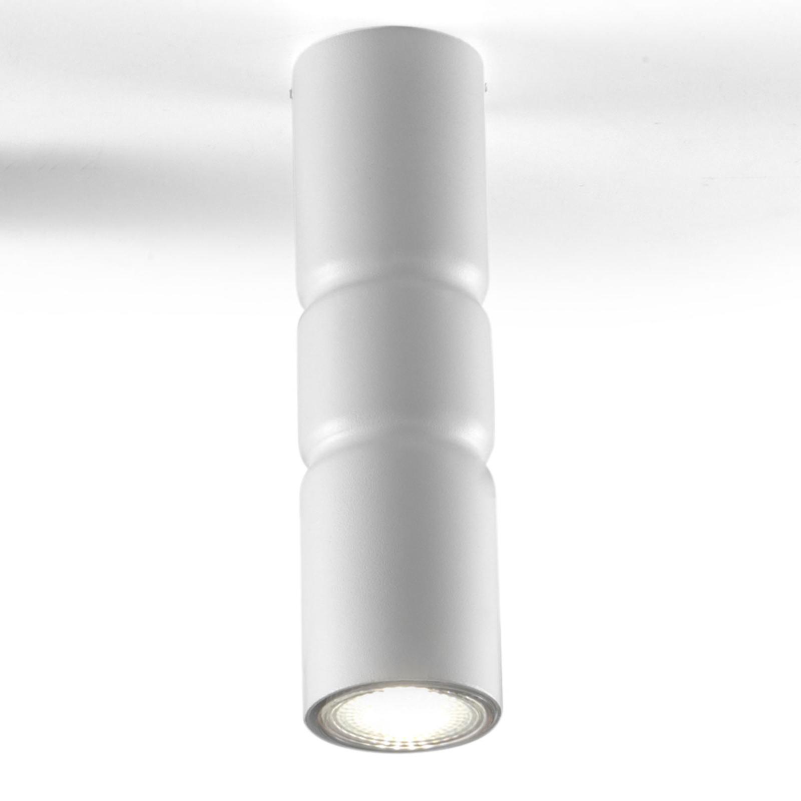 Opbouw plafondlamp Turbo, vaststaand, wit