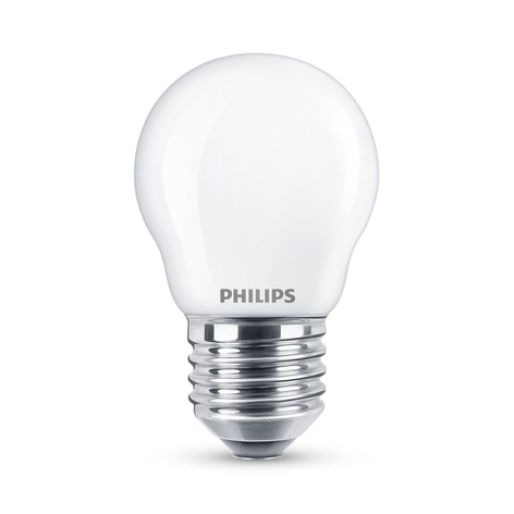Philips Classic LED lamp E27 P45 6,5W 2.700K mat