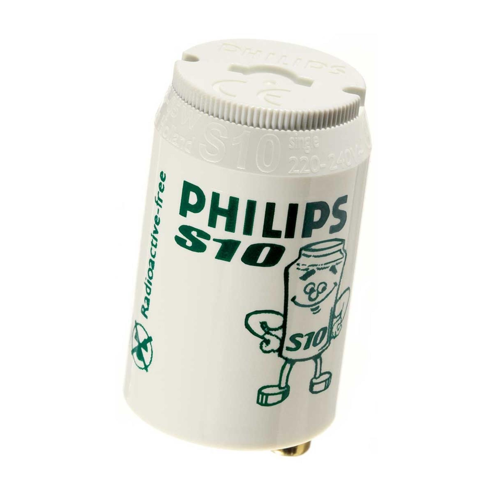 Starter til lysstofrør S10 4-65W fra Philips