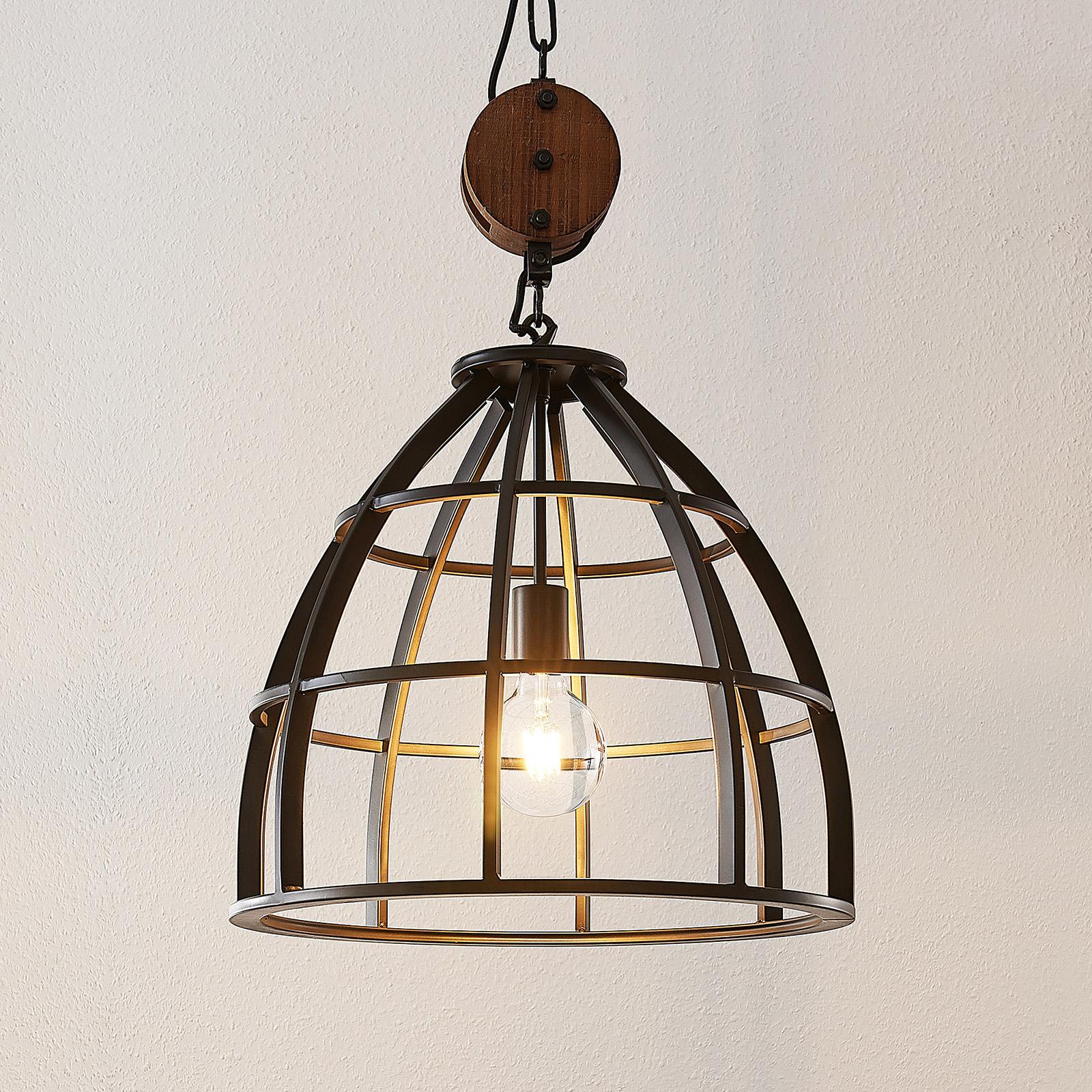 Lindby Maximilia suspension cage à 1 lampe