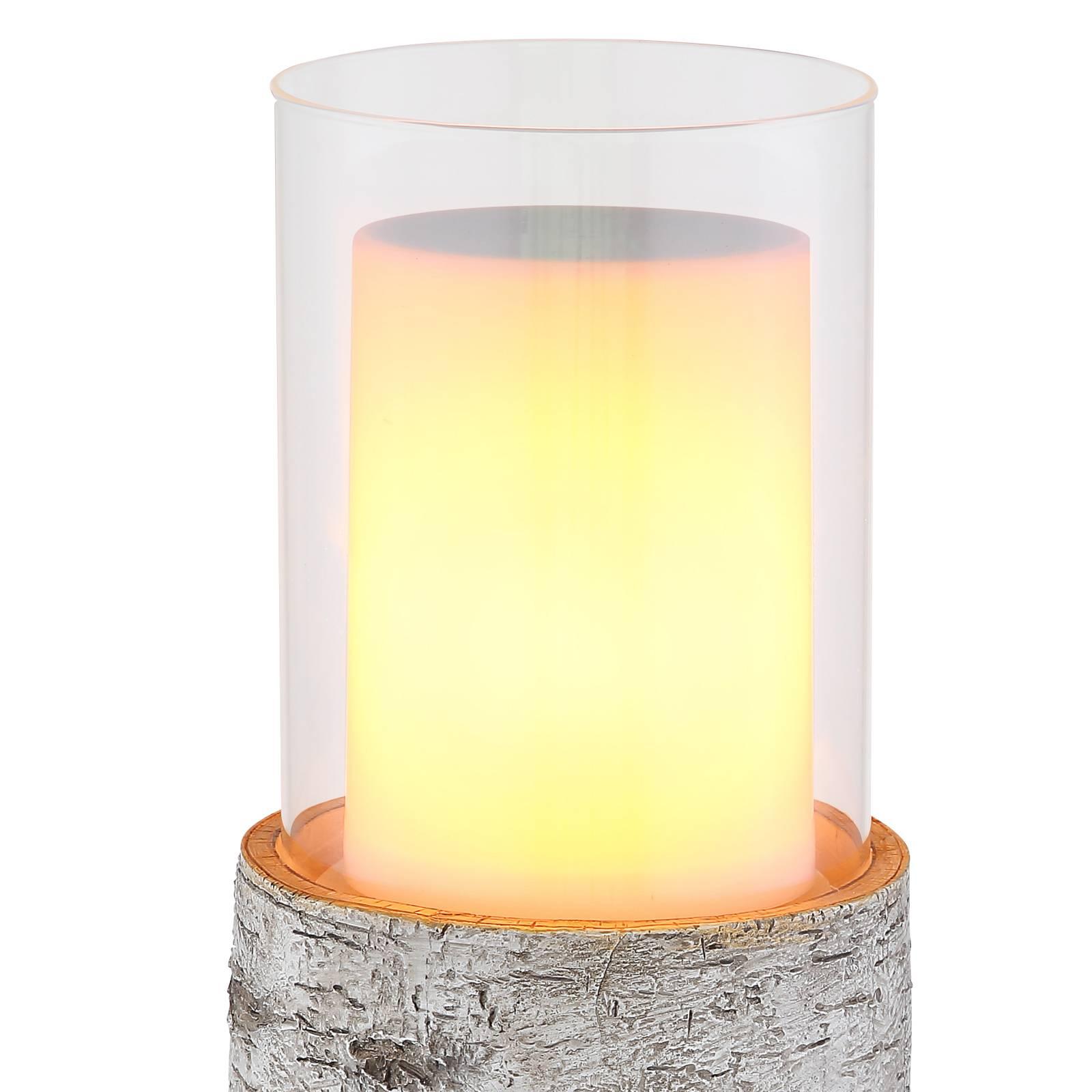 """*NEU*: LED-Windlicht """"Baumstamm"""" aus Kunststoff, solar"""