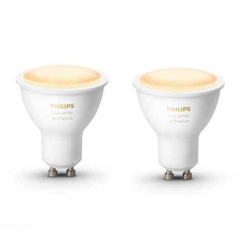 Philips Hue White Ambiance 5 W GU10 LED, 2 szt.