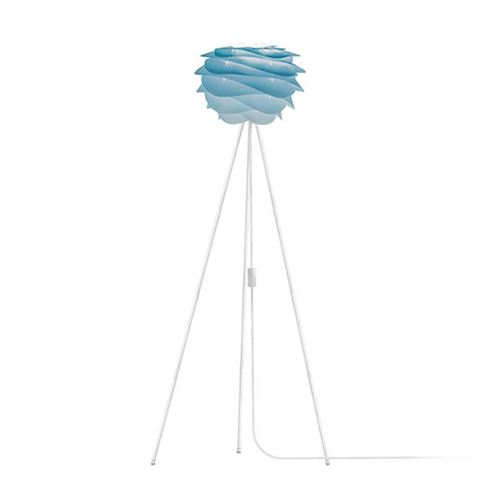 UMAGE Carmina Mini lampadaire bleu/trépied blanc